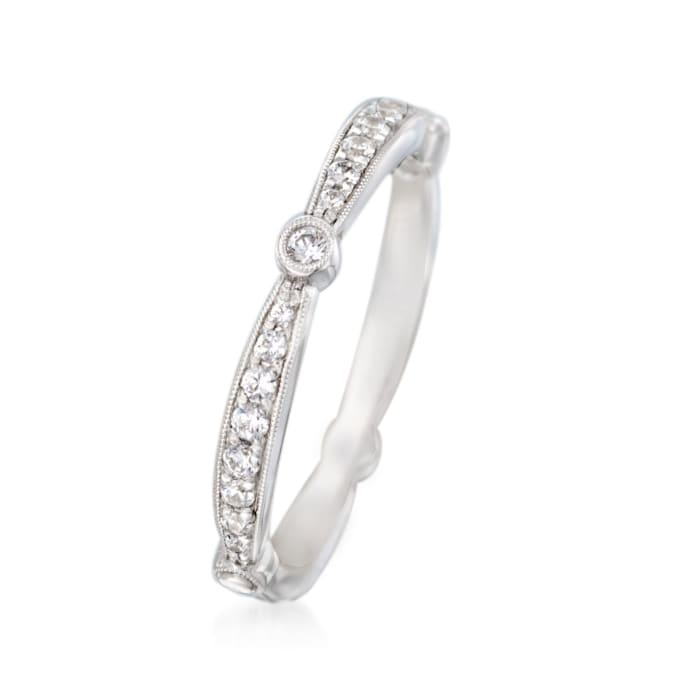 Simon G. .33 ct. t.w. Diamond Wedding Ring in 18kt White Gold