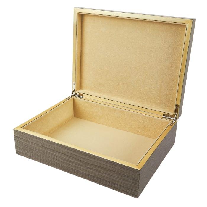 Light Gray Wooden Jewelry Box