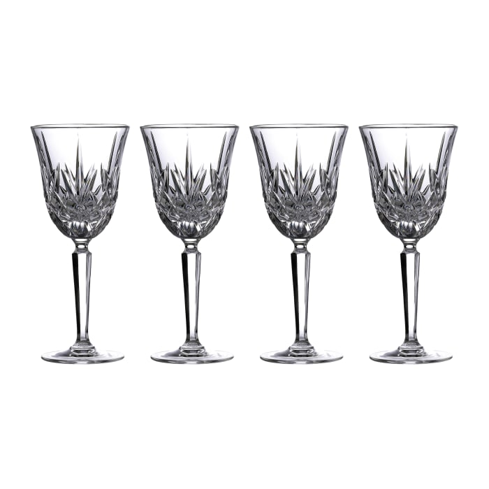 """Marquis by Waterford Crystal """"Maxwell"""" Set of 4 White Wine Glasses from Italy"""