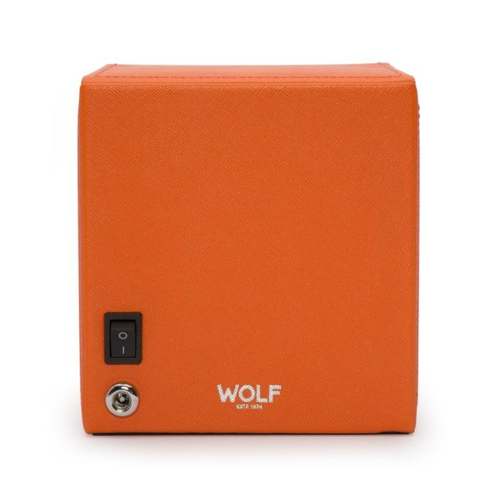 "Wolf ""Cub"" Orange Leather Watch Winder"