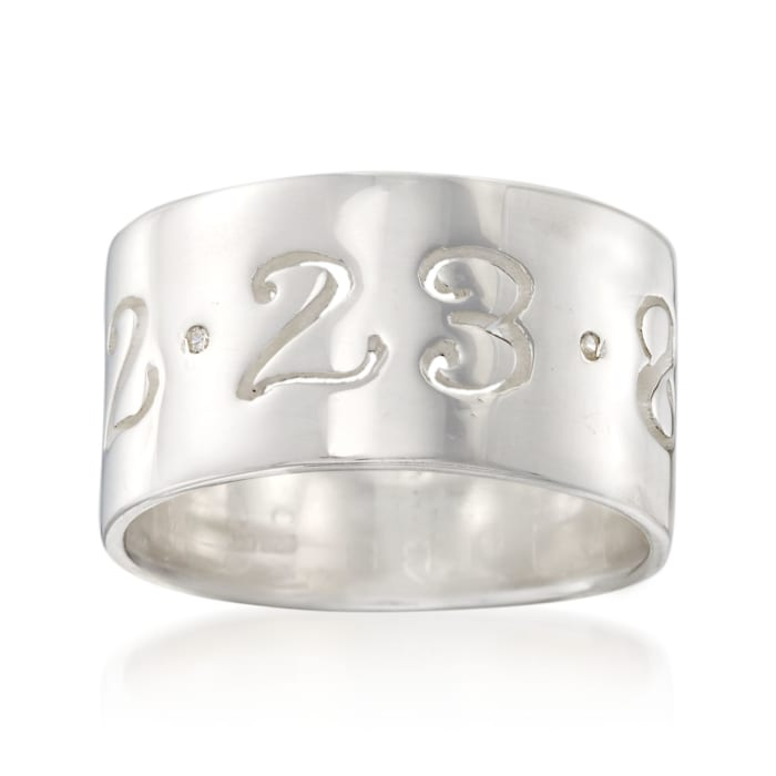 Sterling Silver Personalized Date Ring with CZ Accents
