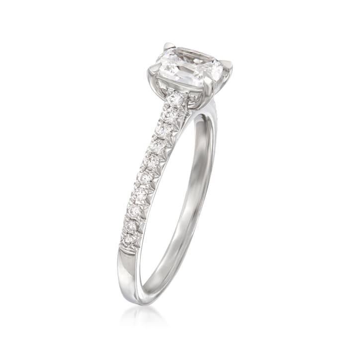 Henri Daussi .91 ct. t.w. Diamond Engagement Ring in 18kt White Gold
