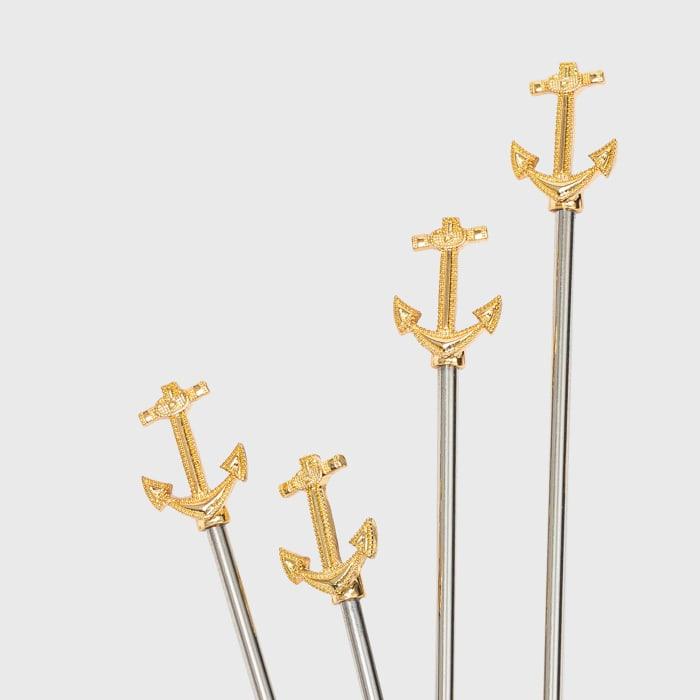 Joanna Buchanan Set of 6 Anchor Swizzle Sticks