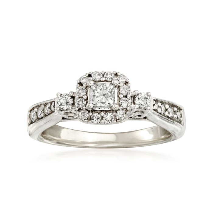 C. 1990 Vintage .70 ct. t.w. Diamond Ring in 14kt White Gold