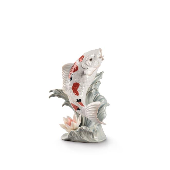 "Lladro ""Koi Fish"" Porcelain Figurine"