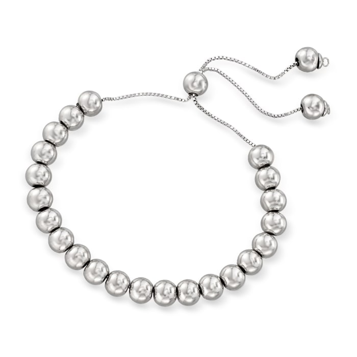 6mm Cultured Pearl and Bead Jewelry Set: Three Bolo Bracelets