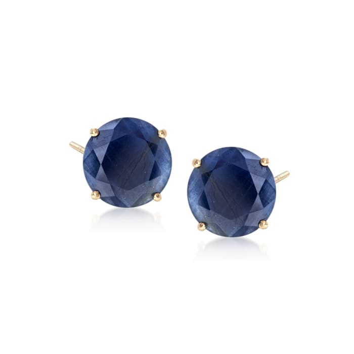 7.00 ct. t.w. Sapphire Stud Earrings in 14kt Yellow Gold