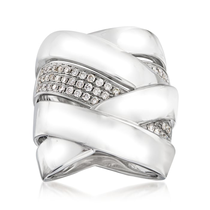 .60 ct. t.w. Diamond Knot Ring in 14kt White Gold