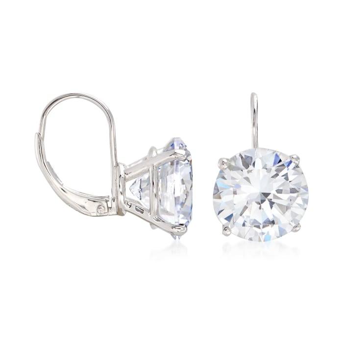 13.00 ct. t.w. Round CZ Drop Earrings in Sterling Silver