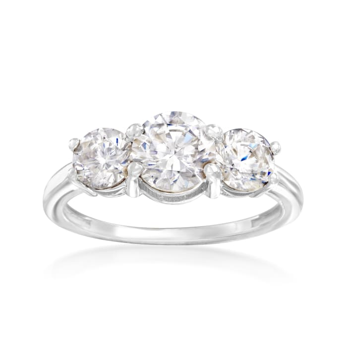 2.00 ct. t.w. CZ Ring in 14kt White Gold