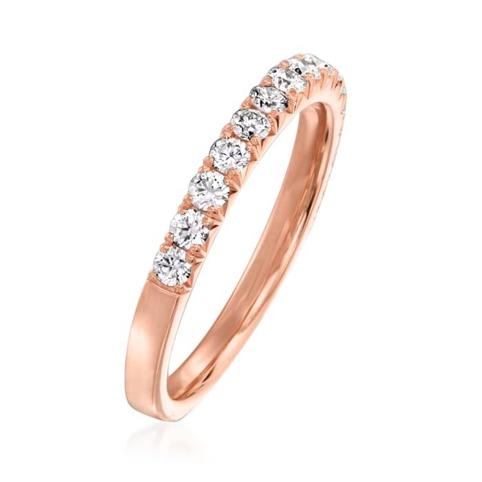 Henri Daussi .45 ct. t.w. Diamond Wedding Ring in 14kt Rose Gold