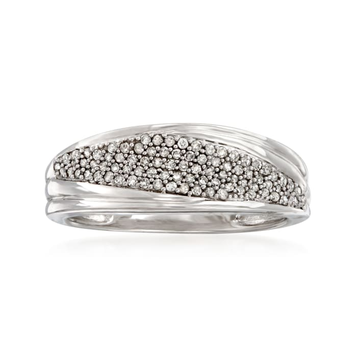 .25 ct. t.w. Pave Diamond Ring in 14kt White Gold