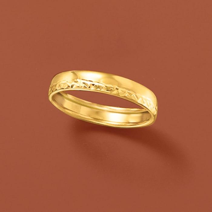 Italian 14kt Yellow Gold Ring