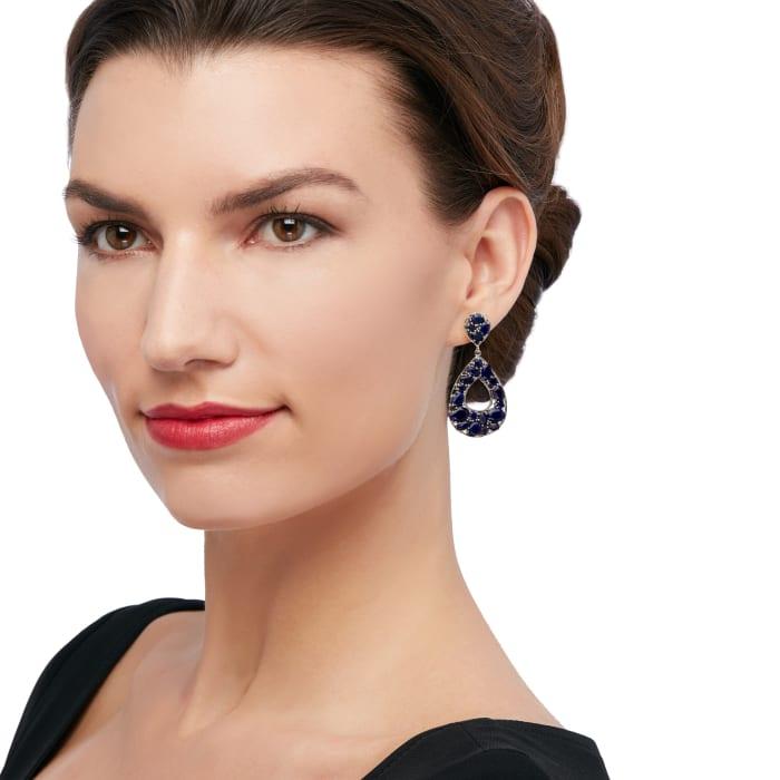 16.85 ct. t.w. Sapphire Earrings in Sterling Silver