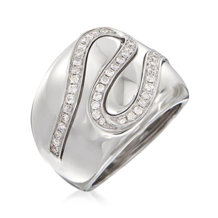 .56 ct. t.w. Diamond Ribbon Ring in 14kt White Gold