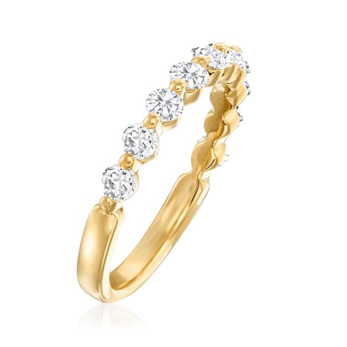Henri Daussi .70 ct. t.w. Diamond Wedding Ring in 18kt Yellow Gold