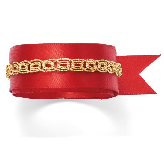14kt Yellow Gold Textured Triple Curb-Link Bracelet