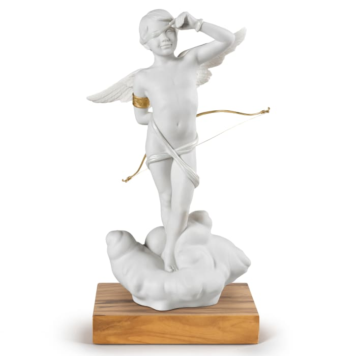 """Lladro """"Cupid"""" Porcelain Figurine"""