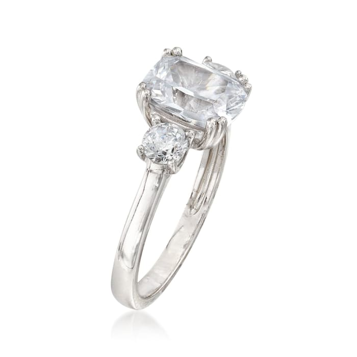 3.90 ct. t.w. CZ Royal-Inspired Engagement Ring in Sterling Silver