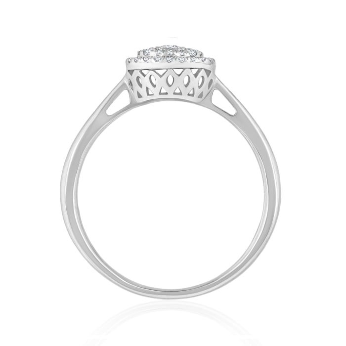 .25 ct. t.w. Baguette and Round Diamond Cluster Ring in 14kt White Gold