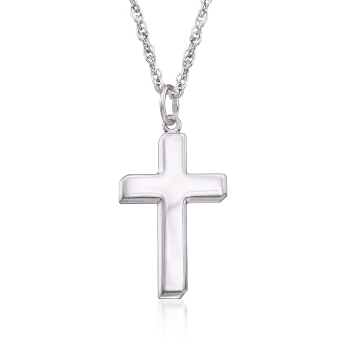 Men's Sterling Silver Cross Pendant Necklace