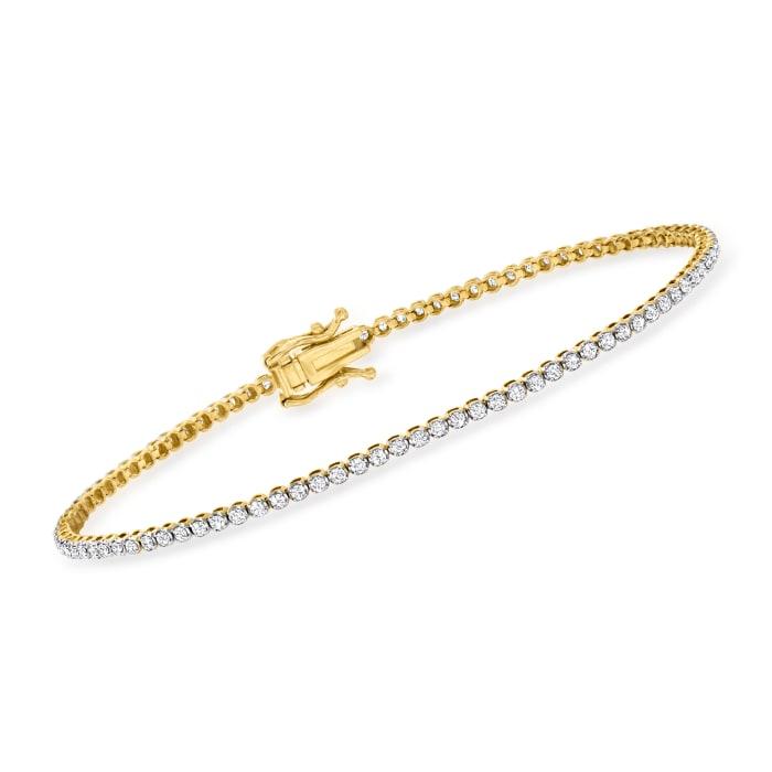 1.00 ct. t.w. Diamond Tennis Bracelet in 14kt Yellow Gold