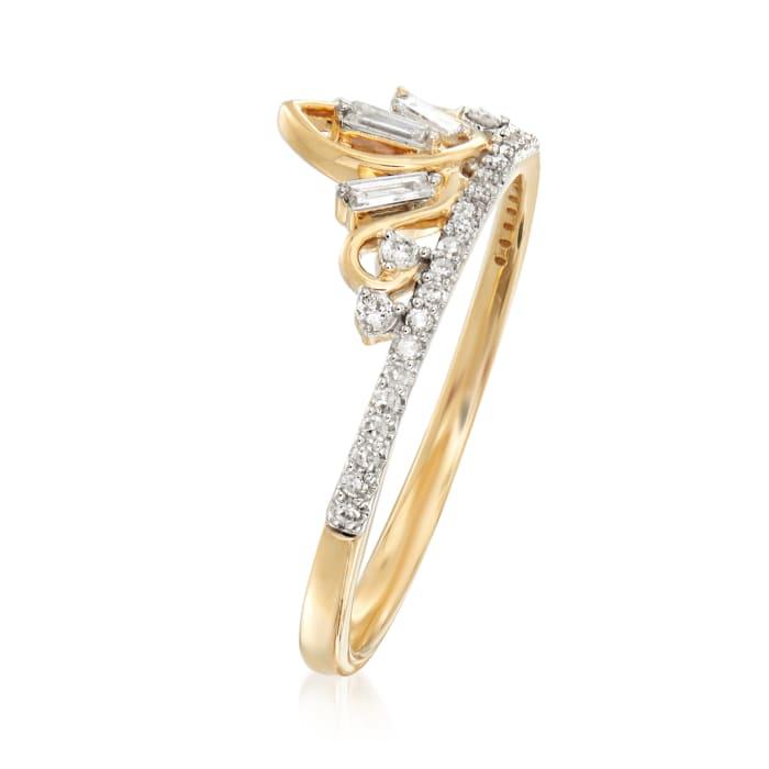 .20 ct. t.w. Diamond Tiara Ring in 14kt Yellow Gold