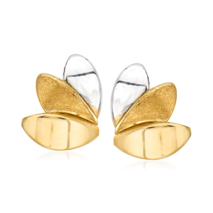 14kt Two-Tone Gold Earrings