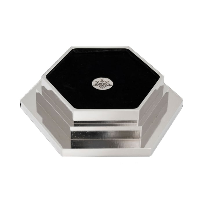 Crystamas Swarovski Crystal Platinum-Colored Hexagon Wine Coaster