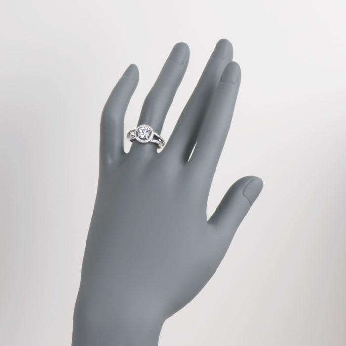 Simon G. .34 ct. t.w. Diamond Engagement Ring Setting in 18kt White Gold