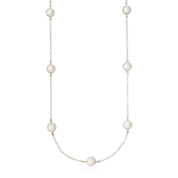 Mikimoto 5-5.5mm A+ Akoya Pearl Necklace in 18kt White Gold