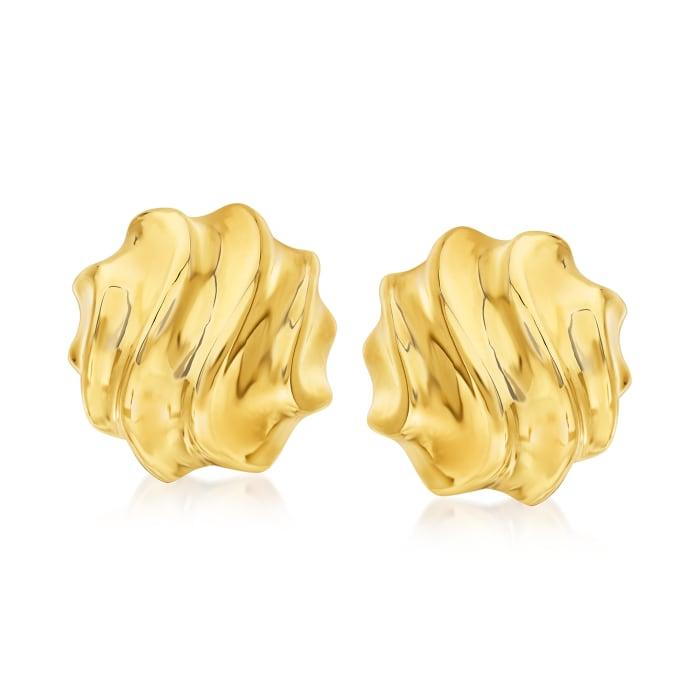 Italian 14kt Yellow Gold Swirl Earrings
