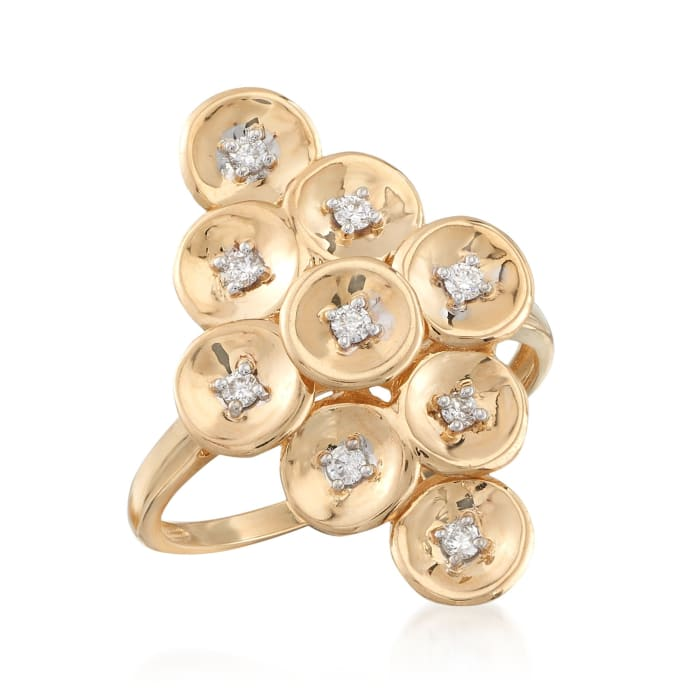.16 ct. t.w. Diamond Multi-Disc Ring in 14kt Yellow Gold