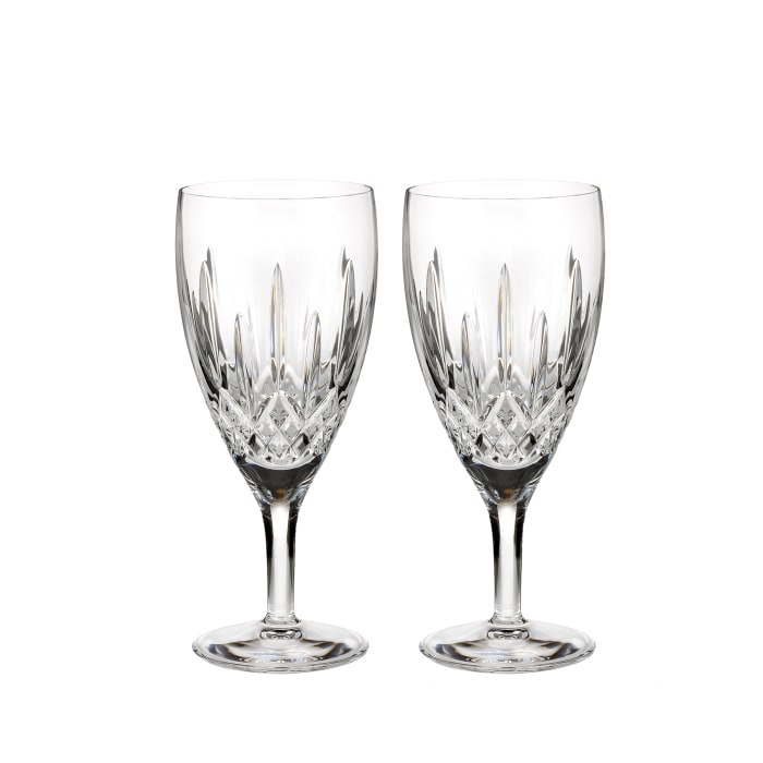 "Waterford Crystal ""Nouveau"" Set of 2 Lismore Iced Beverage Glasses"