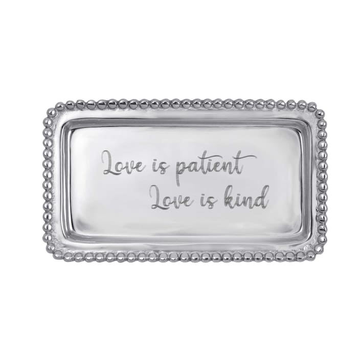 """Mariposa """"Love is Patient Love is Kind"""" Beaded Tray"""