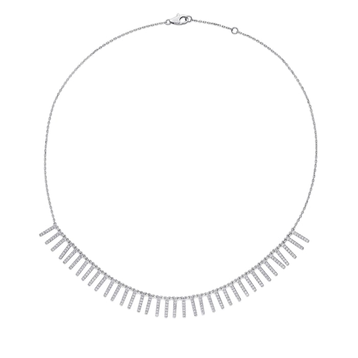 1.50 ct. t.w. Diamond Necklace in 14kt White Gold