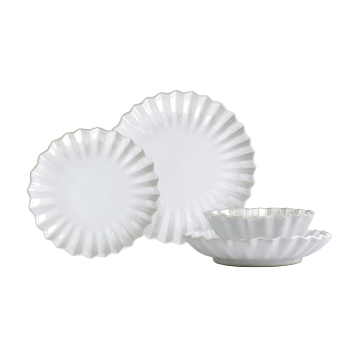 """Vietri """"Incanto Pleated"""" 4-pc. Place Setting from Italy"""