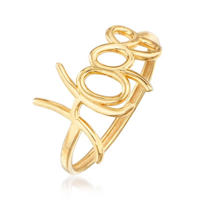 "Italian 14kt Yellow Gold ""Hope"" Ring"