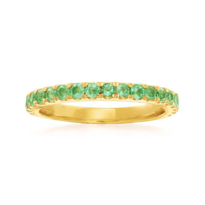 .50 ct. t.w. Emerald Ring in 18kt Gold Over Sterling