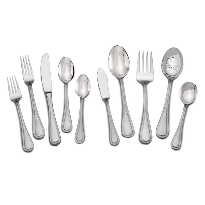 """Towle """"Beaded Antique"""" 45-pc. Service for 8 18/10 Stainless Steel Flatware Set"""