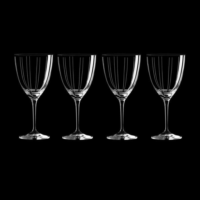 "Mikasa ""Berlin"" Set of 4 White Wine Glasses"