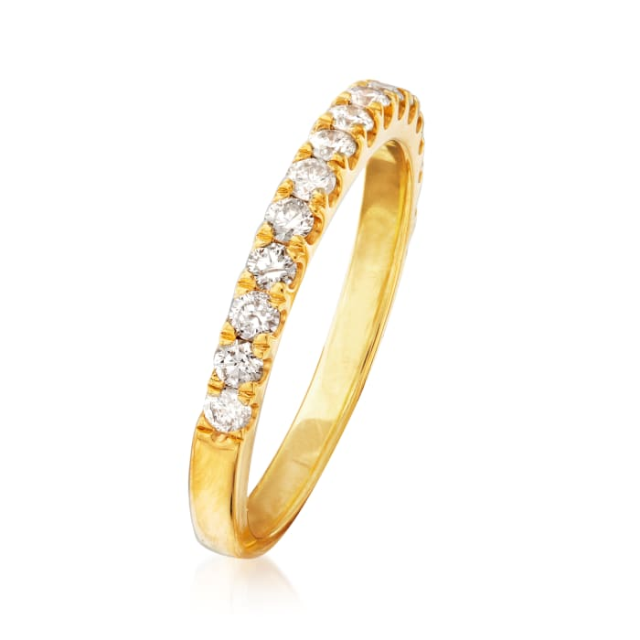 .60 ct. t.w. Diamond Ring in 18kt Gold Over Sterling