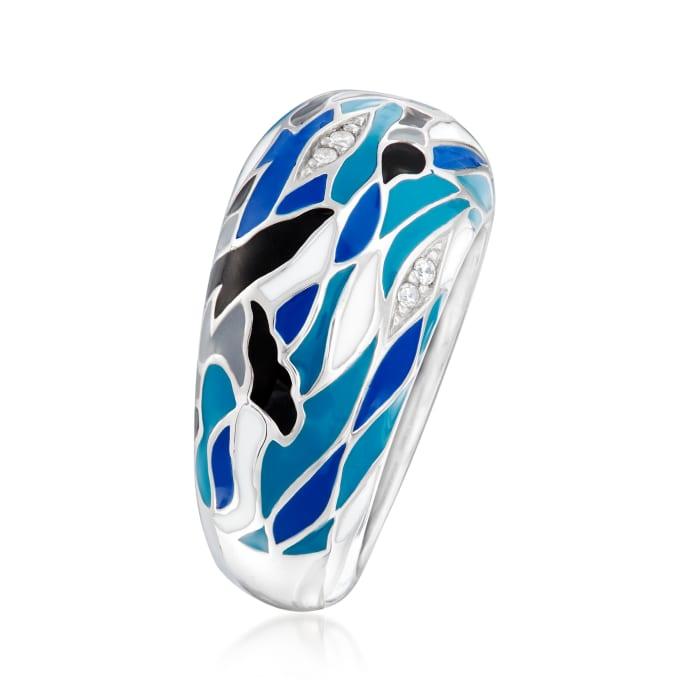 "Belle Etoile ""Migration"" Enamel Ring in Sterling Silver"