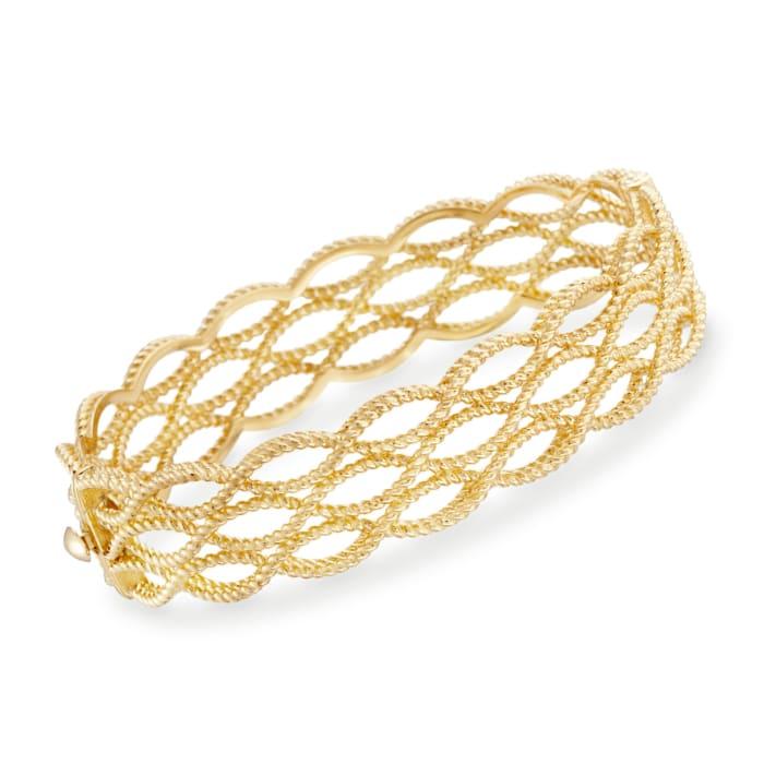 "Roberto Coin ""Barocco"" 18kt Yellow Gold Braided Bangle Bracelet"