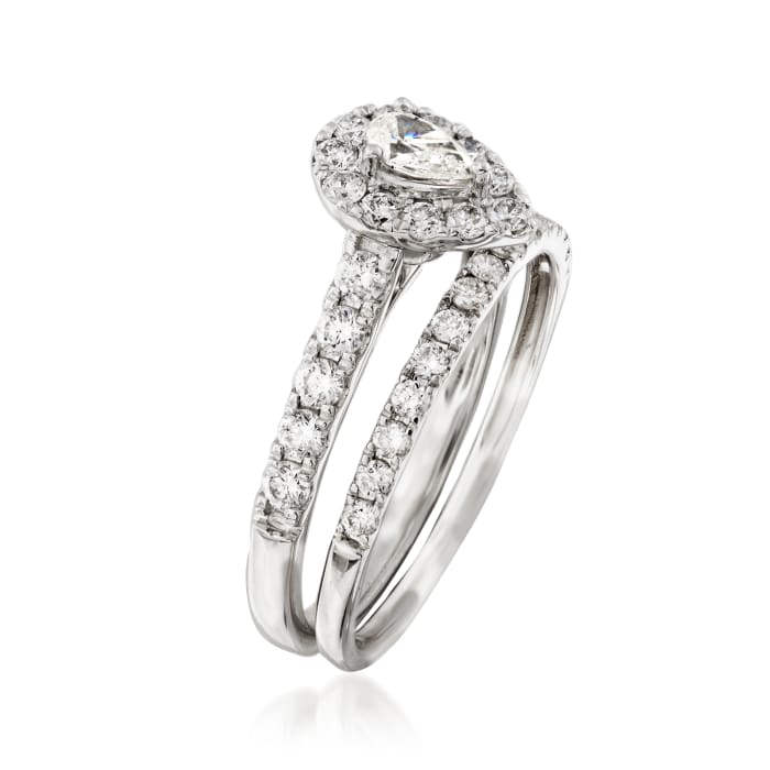1.00 ct. t.w. Diamond Engagement and Wedding Ring in 14kt White Gold