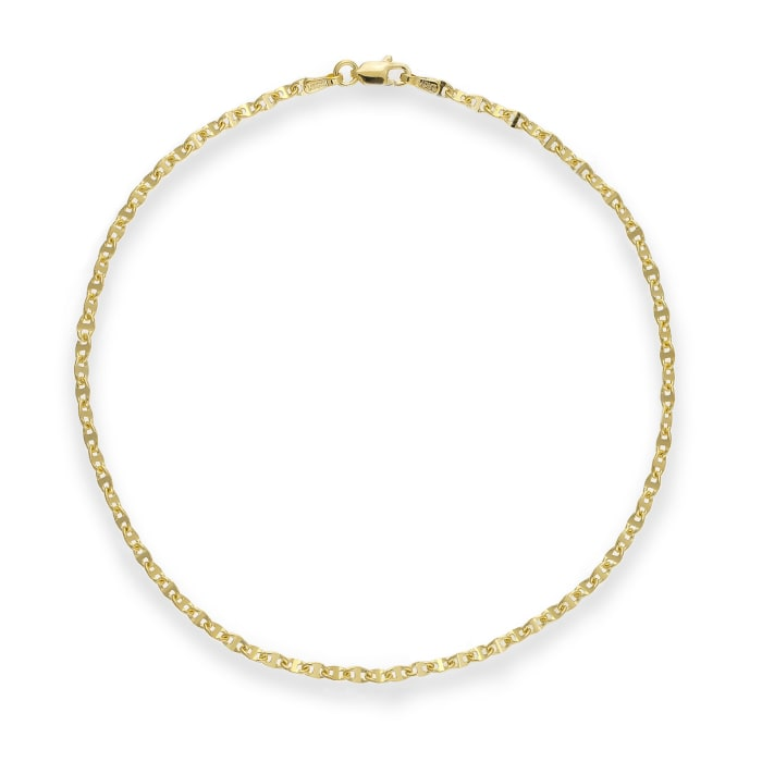 14kt Yellow Gold Anchor-Link Anklet
