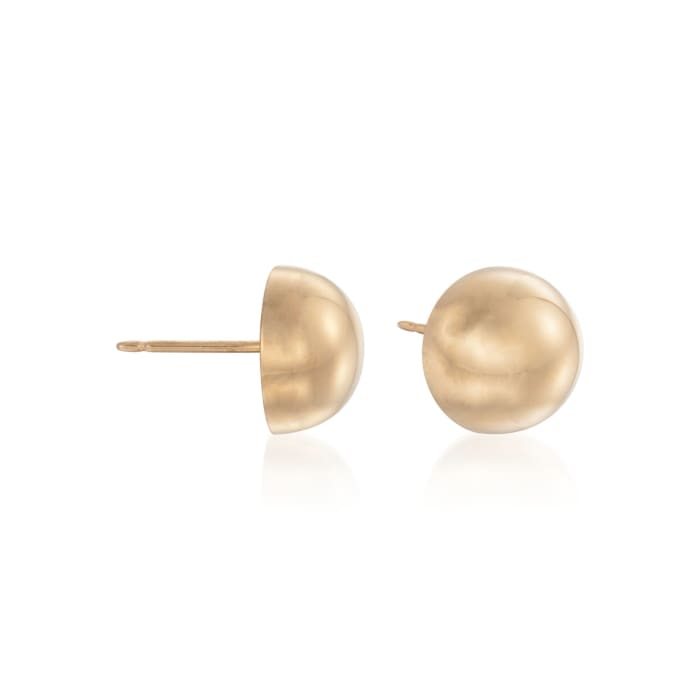 8mm 14kt Yellow Gold Domed Stud Earrings