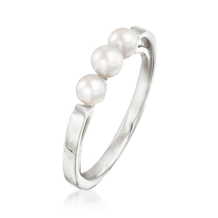 Mikimoto 3.75-4mm A+ Akoya Pearl Ring in 18kt White Gold