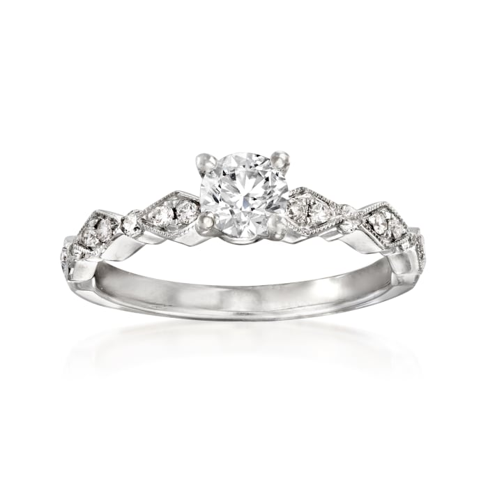 .69 ct. t.w. Diamond Engagement Ring in 14kt White Gold
