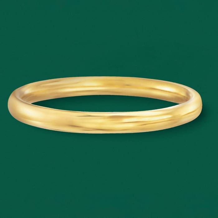 Italian Andiamo 8mm 14kt Yellow Gold Over Resin Bangle Bracelet